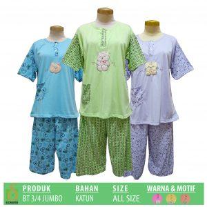 Pabrik Baju Tidur Katun 3-4 Dewasa Murah di Surabaya
